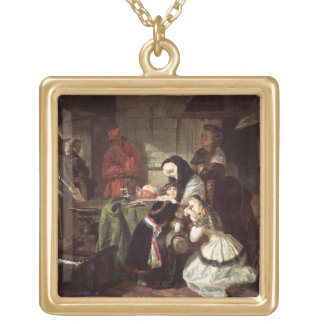 Marie-Antoinette's (1753-93) Final Adieu to the Da Gold Plated Necklace