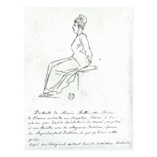 Marie-Antoinette's way to her execution Postcard