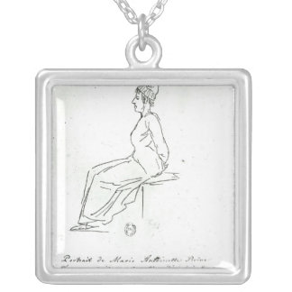 Marie-Antoinette's way to her execution Silver Plated Necklace