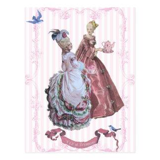 Marie AntoinetteTea en Trianon Postal