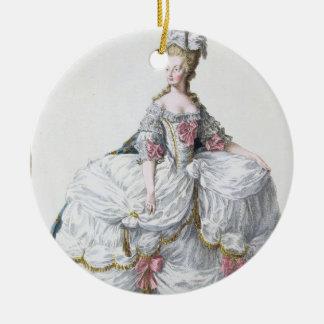 Marie Antonieta (1752-93) de 'DES Estam de Receuil Adorno Navideño Redondo De Cerámica