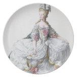 Marie Antonieta (1752-93) de 'DES Estam de Receuil Plato De Cena