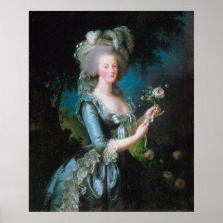 Marie-Antonieta con el color de rosa de Elisabeth  Posters