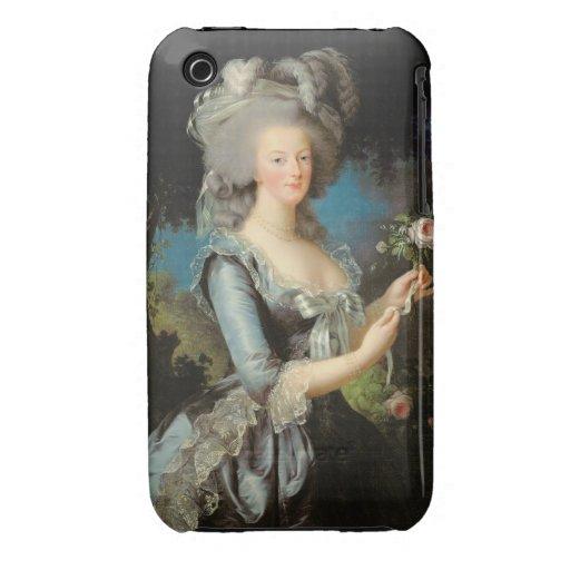 Marie Antonieta con un color de rosa, 1783 iPhone 3 Case-Mate Cobertura