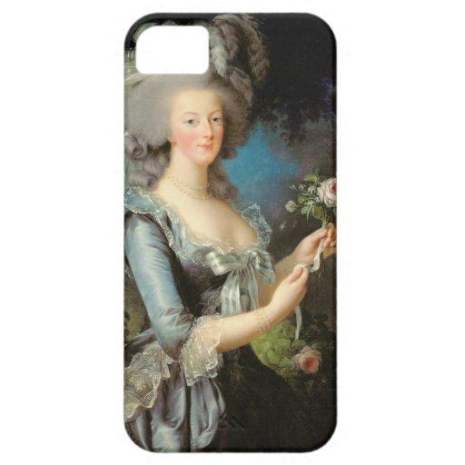 Marie Antonieta con un color de rosa, 1783 iPhone 5 Case-Mate Protectores