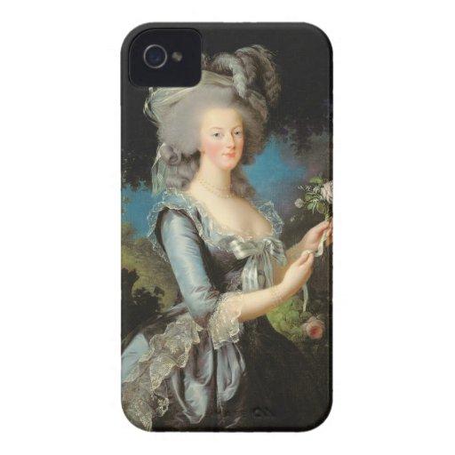 Marie Antonieta con un color de rosa, 1783 Case-Mate iPhone 4 Coberturas