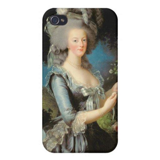 Marie Antonieta con un color de rosa, 1783 iPhone 4 Cárcasas