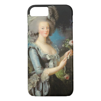 Marie Antonieta con un color de rosa, 1783 Funda iPhone 7