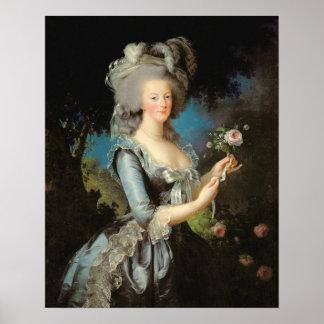 Marie Antonieta con un color de rosa, 1783 Posters