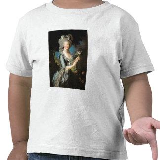 Marie Antonieta con un color de rosa 1783 Camisetas