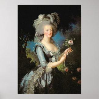 Marie Antonieta con un color de rosa, 1783 Póster