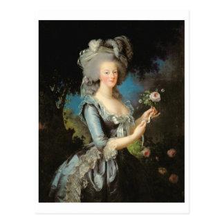 Marie Antonieta con un color de rosa, 1783 Tarjetas Postales
