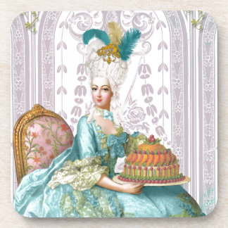 Marie Antonieta dejó la torta de la consumición Posavasos De Bebida