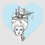 Marie Antonieta del pegatina del corazón del mar