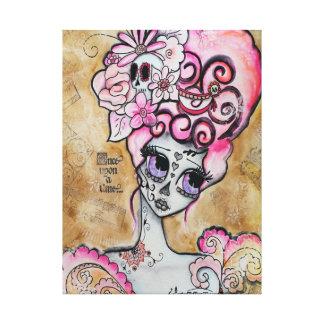 Marie Antonieta, Dia de los Muertos Lienzo Envuelto Para Galerias