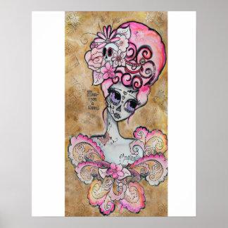 Marie Antonieta, Dia de los Muertos Poster Póster
