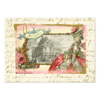"""Marie Antonieta en el castillo francés Versalles Invitación 5"""" X 7"""""""