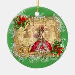 Marie Antonieta en el navidad de Versalles Adorno Redondo De Cerámica