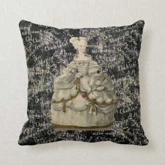 Marie Antonieta en la almohada extravagante 20x20