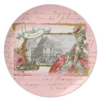 Marie Antonieta en la placa del collage de Versall Plato De Cena