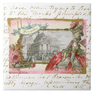 Marie Antonieta en la teja del arte del collage de