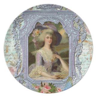 Marie Antonieta en lavanda Plato