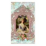 Marie Antonieta en marco rosado Plantilla De Tarjeta De Negocio