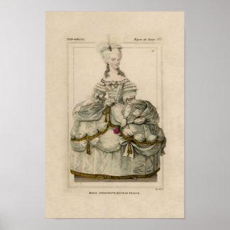 Marie Antonieta en poster extravagante del ~ del v