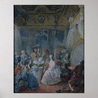Marie Antonieta en su cámara en Versalles Poster