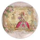 Marie Antonieta en Versalles en rosa Plato Para Fiesta