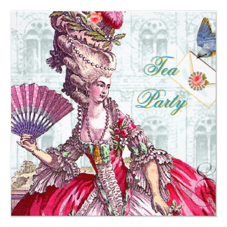 "Marie Antonieta en Versalles Invitación 5.25"" X 5.25"""