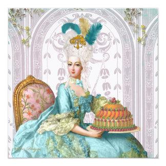 """Marie Antonieta los dejó comer la torta Invitación 5.25"""" X 5.25"""""""