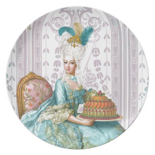 Marie Antonieta los dejó comer la torta Plato