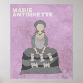 Marie Antonieta: Posición minimalista de las Póster