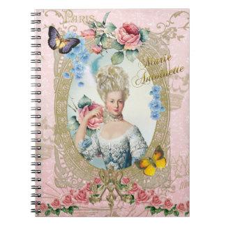 Marie Antonieta subió del cuaderno de Versalles