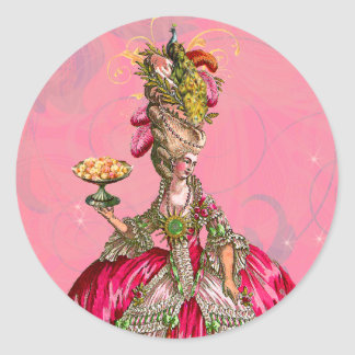 Marie Antonieta y pegatinas de los pasteles Pegatina Redonda