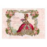 Marie Antonieta y rosas rosados Tarjetas De Visita Grandes