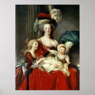 Marie-Antonieta y sus cuatro niños, 1787 Posters