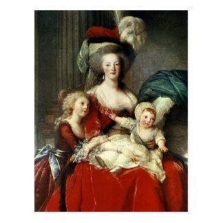Marie-Antonieta y sus cuatro niños, 1787 Postal