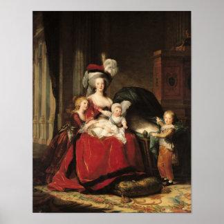 Marie-Antonieta y sus niños, 1787 Poster