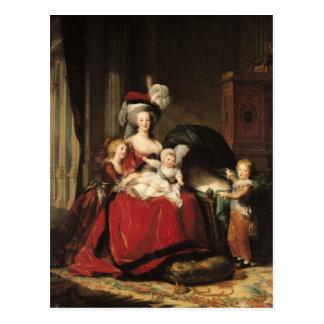 Marie-Antonieta y sus niños, 1787 Tarjeta Postal