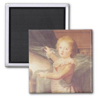 Marie-Antonieta y sus niños Imán Cuadrado