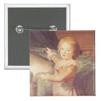 Marie-Antonieta y sus niños Pin Cuadrado