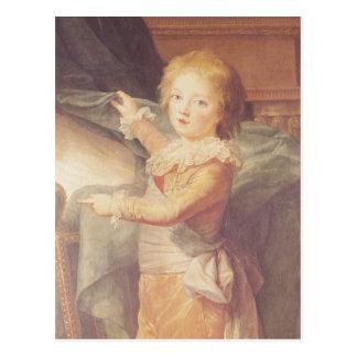 Marie-Antonieta y sus niños Postal