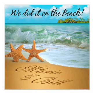Marie & Bill Starfish Couple Beach Reception Card