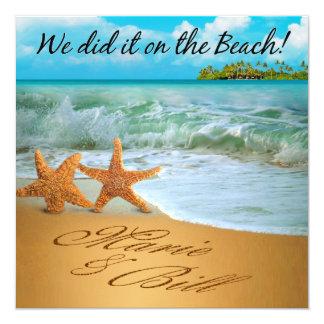 Marie & Bill Starfish Couple Beach Reception Personalized Invites