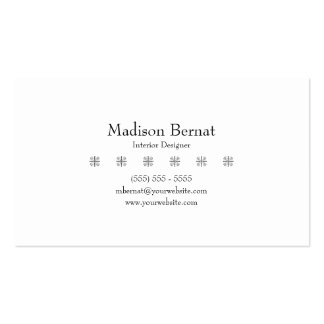 Marie - Black Double-Sided Standard Business Cards (Pack Of 100)