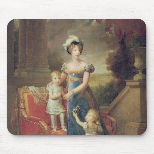 Marie-Caroline de Borbón con sus niños Tapete De Raton