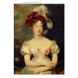 Marie-Caroline de Bourbon  Duchesse de Berry Card