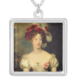 Marie-Caroline de Bourbon  Duchesse de Berry Square Pendant Necklace